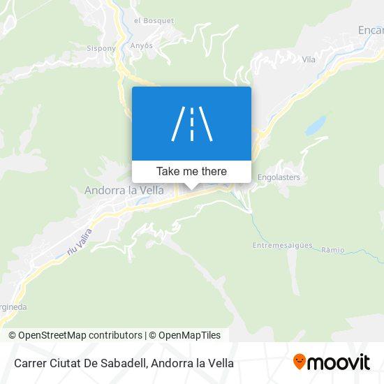 Carrer Ciutat De Sabadell map