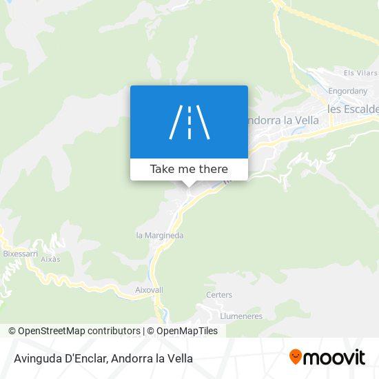 Avinguda D'Enclar map