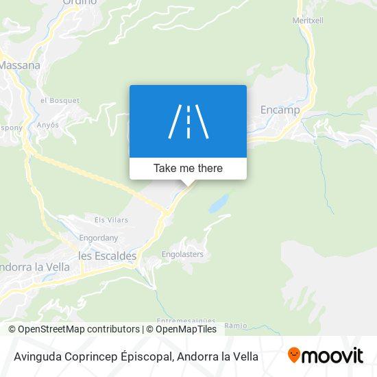 Avinguda Coprincep Épiscopal map