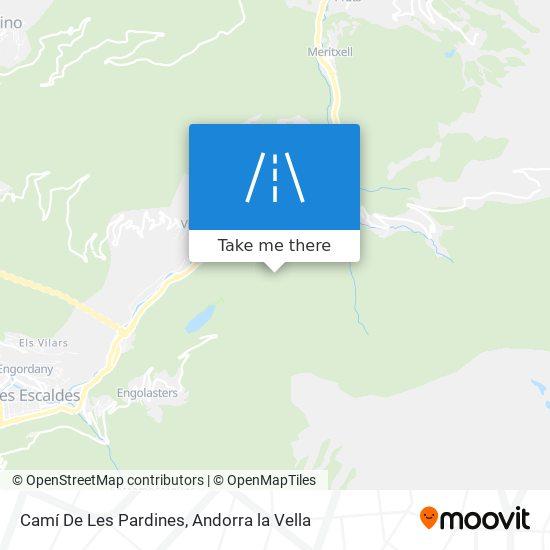 Camí De Les Pardines map