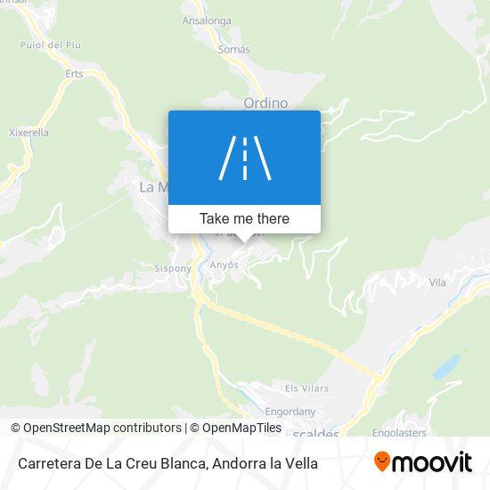 Carretera De La Creu Blanca map