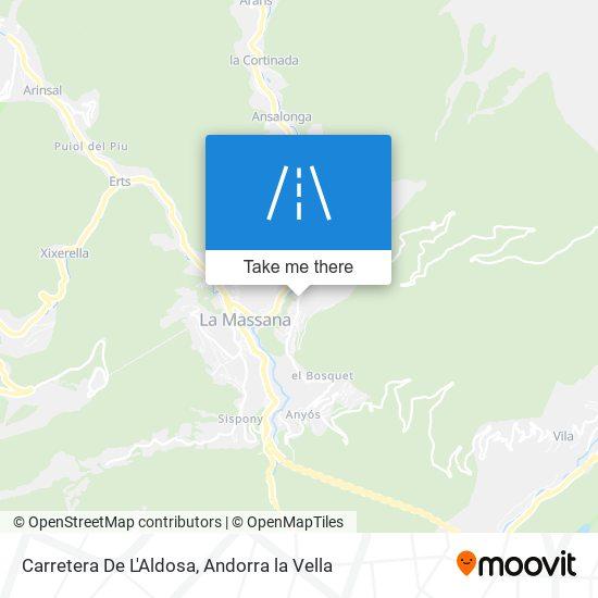 Carretera De L'Aldosa map
