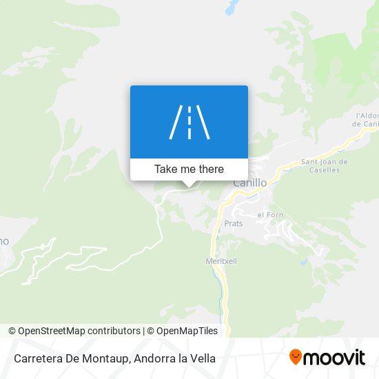 Carretera De Montaup map