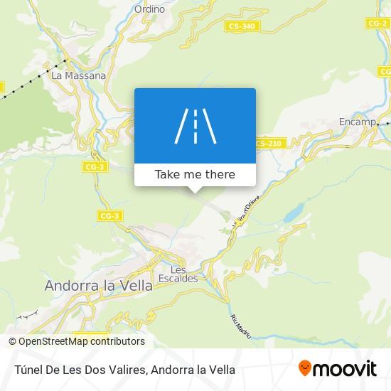 Túnel De Les Dos Valires map
