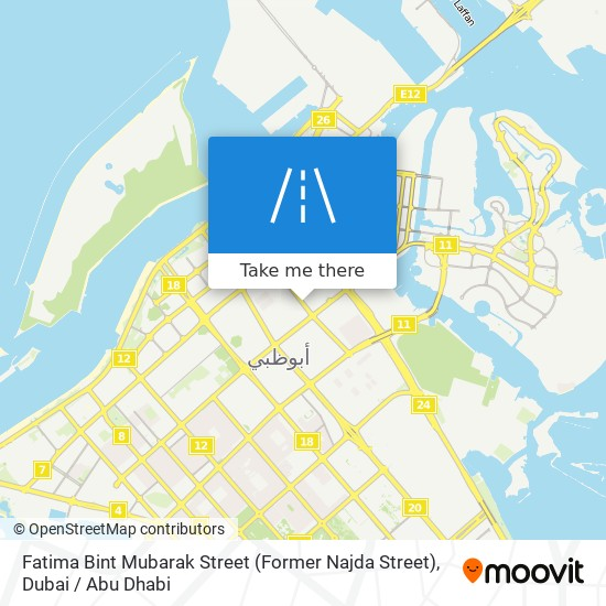 Fatima Bint Mubarak Street (Former Najda Street) map