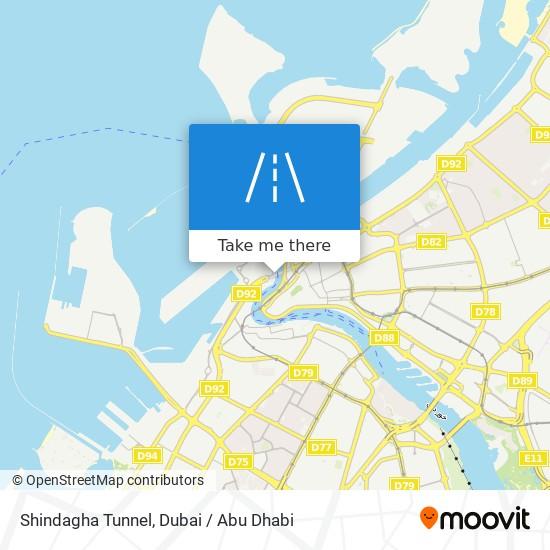 Shindagha Tunnel map