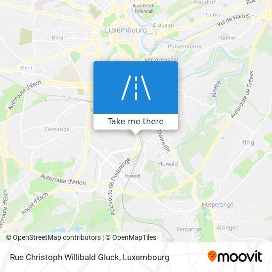 Rue Christoph Willibald Gluck map