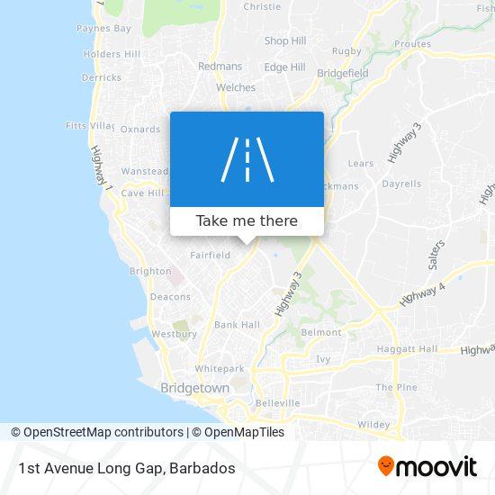 1st Avenue Long Gap map