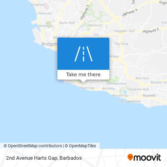 2nd Avenue Harts Gap map