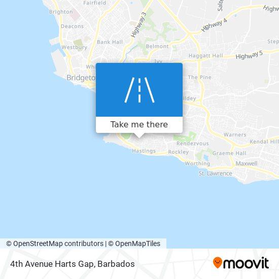 4th Avenue Harts Gap map