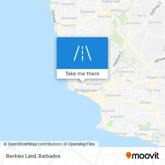 Beckles Land map