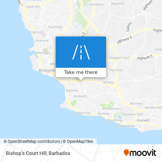Bishop's Court Hill map