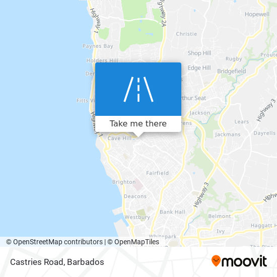 Castries Road map