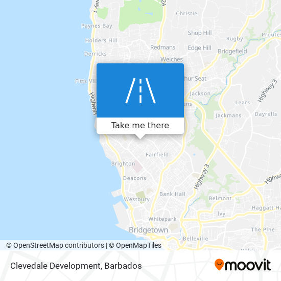 Clevedale Development map