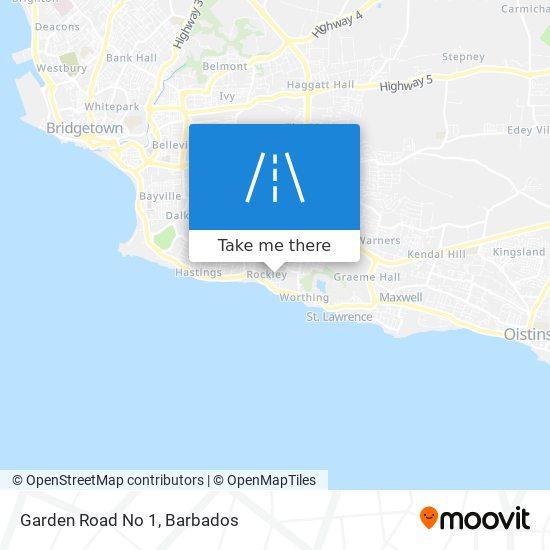 Garden Road No 1 map