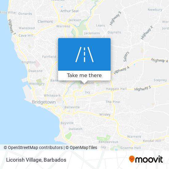 Licorish Village map