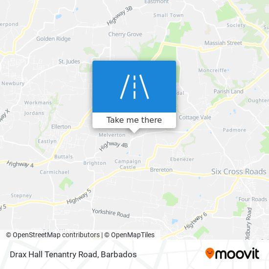Drax Hall Tenantry Road map