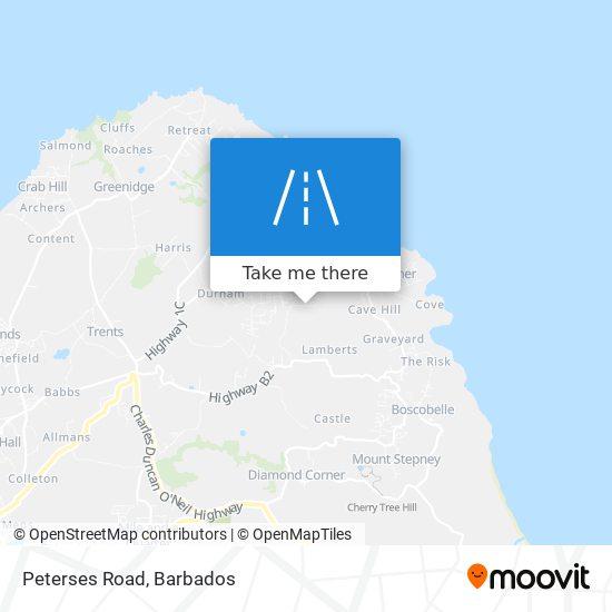 Peterses Road map