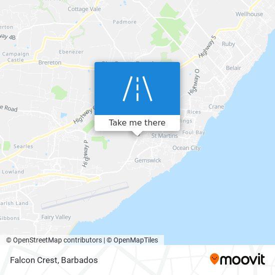 Falcon Crest map