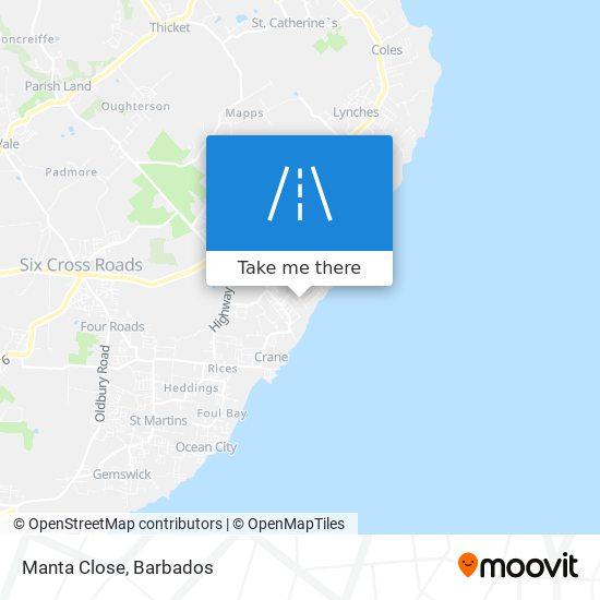 Manta Close map