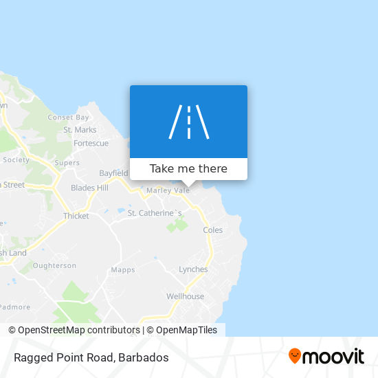 Ragged Point Road map