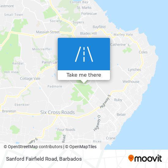 Sanford Fairfield Road map