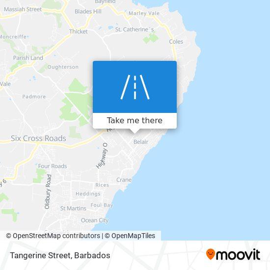 Tangerine Street map