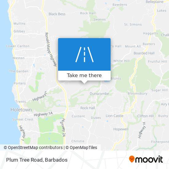 Plum Tree Road map