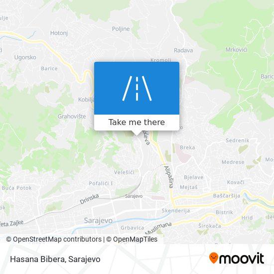 Hasana Bibera map