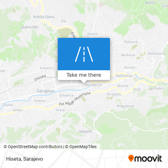 Hiseta map