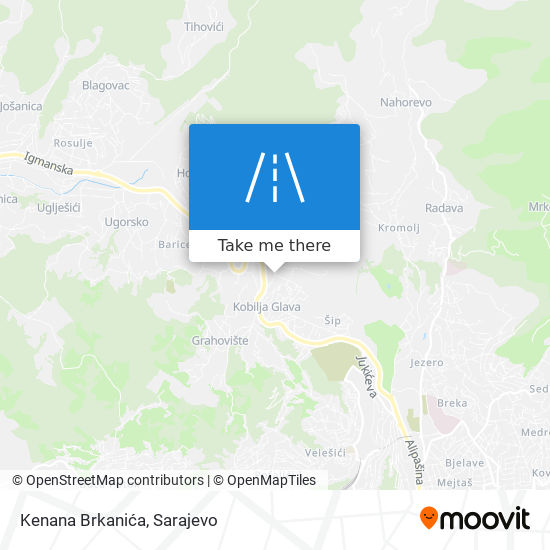 Kenana Brkanića map