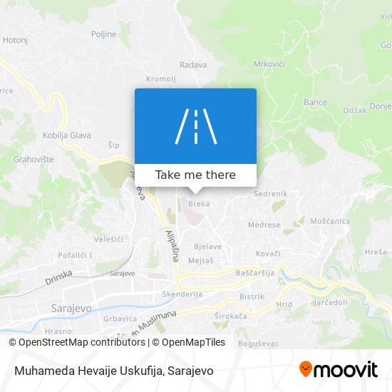 Muhameda Hevaije Uskufija map
