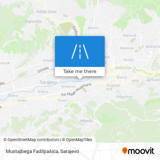 Mustajbega Fadilpašića map