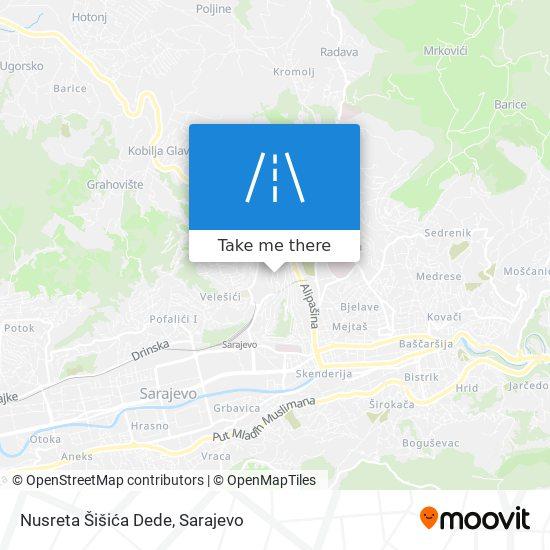 Nusreta Šišića Dede map
