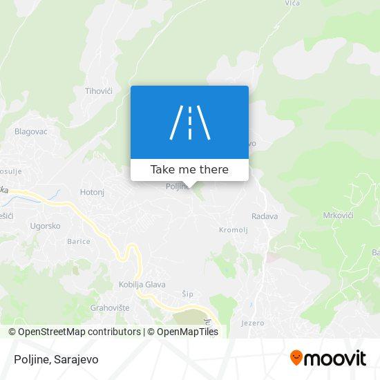 Poljine map