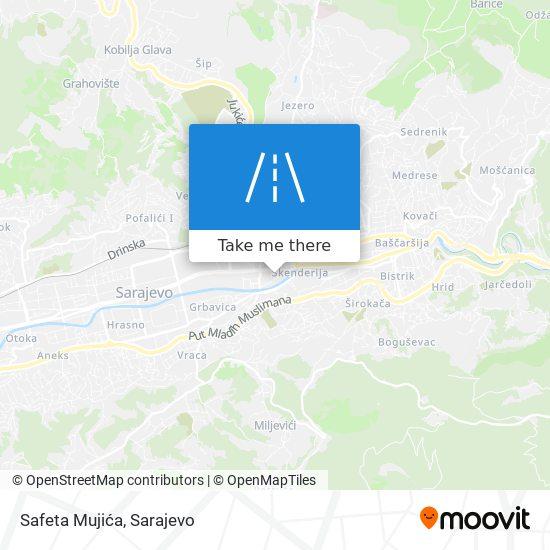 Safeta Mujića map