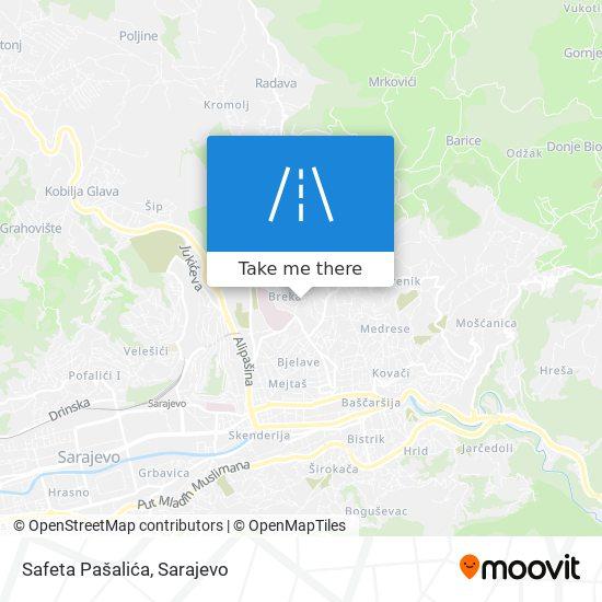 Safeta Pašalića map