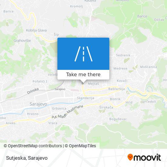 Sutjeska map