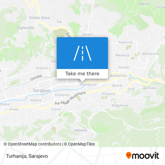Turhanija map