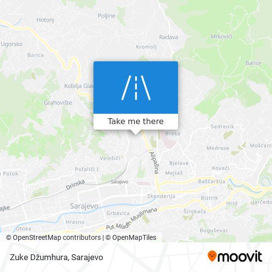 Zuke Džumhura map