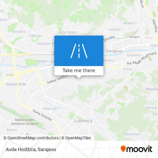 Avde Hodžića map