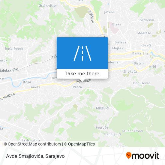 Avde Smajlovića map