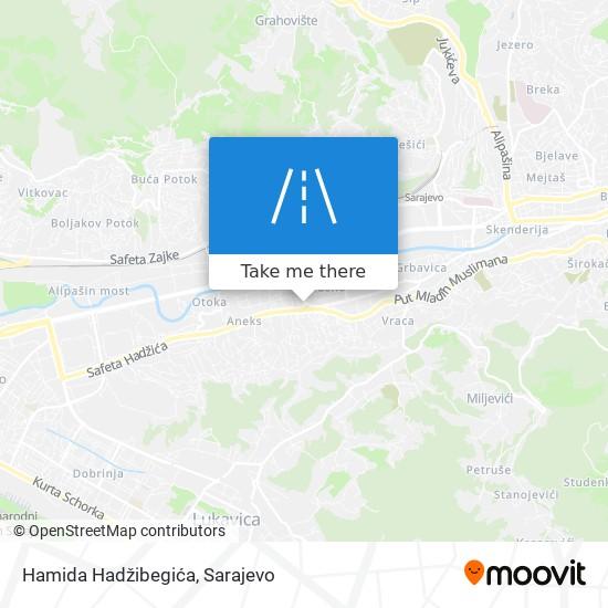 Hamida Hadžibegića map