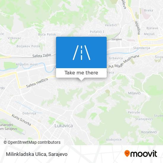 Milinkladska Ulica map