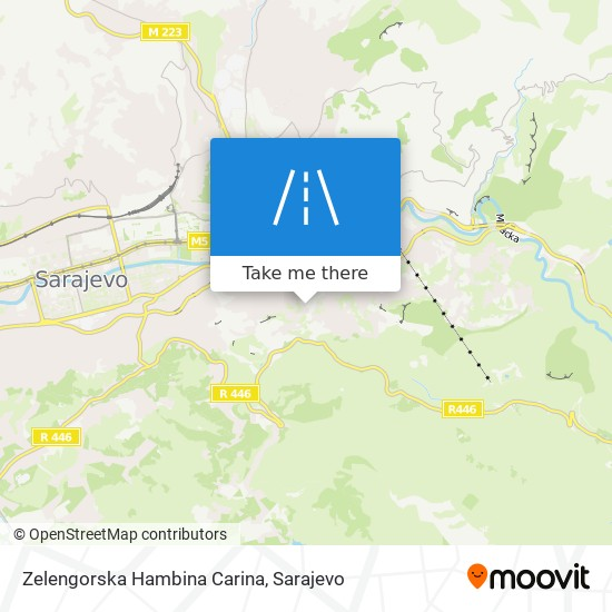 Zelengorska            Hambina Carina map