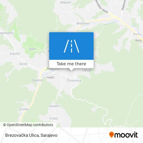 Brezovačka Ulica map