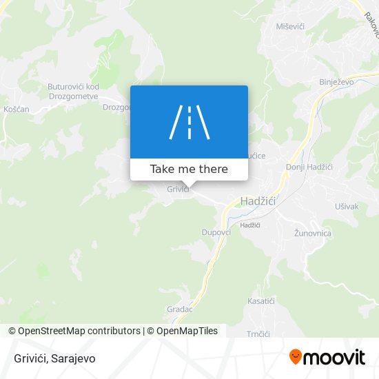 Grivići map