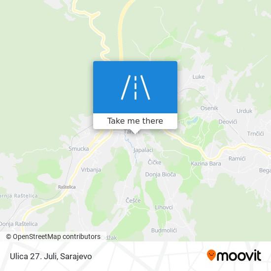 Ulica 27. Juli map