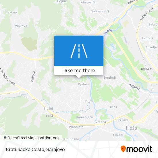 Bratunačka Cesta map
