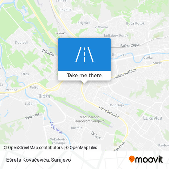 Ešrefa Kovačevića map